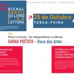 Sarau Boca das Artes na III Bienal Brasil do livro e da leitura